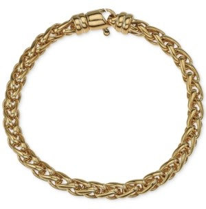 Esquire Men's Jewelry Chain Bracelet in 14k Gold-Plated Sterling Silver, Created for Macy's