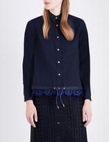 Sacai Lace-detail woven shirt