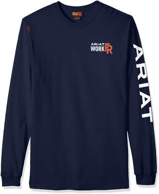 Ariat Men's Big and Tall Flame Resistant Long Sleeve Logo Work Crew