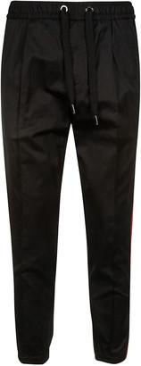 Dolce & Gabbana Ribbed Elastic Waist Drawstring Trousers