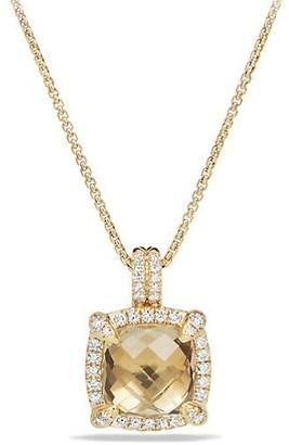 David Yurman Chatelaine Bezel Necklace with Champagne Citrine & Diamonds