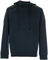 Pierre Balmain leather shoulder patch hoodie