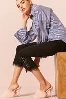 LOVE21 LOVE 21 Grommet Ring Straight-Leg Jeans