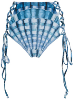 Mara Hoffman Shell Print High Waist Bikini Bottom