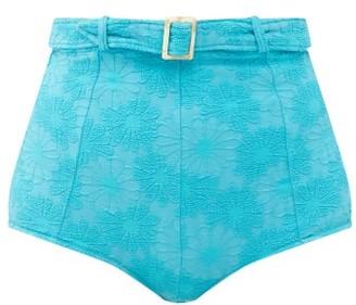 Dodo Bar Or Pamela Belted High-rise Bikini Briefs - Blue
