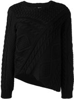 MM6 MAISON MARGIELA asymmetric cable knit jumper - women - Cotton - XL