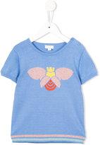 Margherita Kids - bee intarsia jumper - kids - Cotton/Polyester/Metallic Fibre - 4 yrs