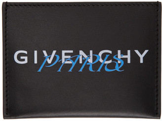 Givenchy Black and Blue Paris Card Holder
