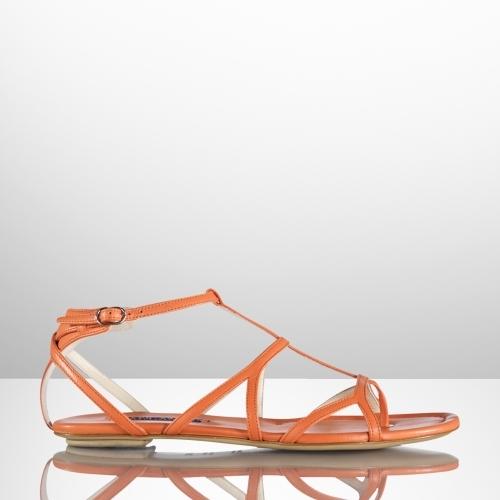 Ralph Lauren Calfskin Viella Flat Sandal