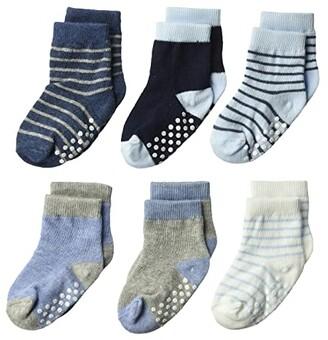 Jefferies Socks Non-Skid Crew 6-Pack (Infant/Toddler) (Boy Multi) Boys Shoes