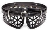 Alexander McQueen Cut-Out Leather Belt