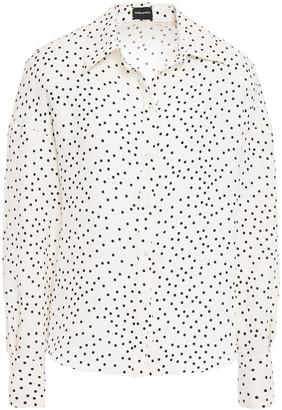 Magda Butrym Polka-dot Cotton And Silk-blend Shirt