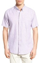 Cutter & Buck Men's Big & Tall River Front Stripe Sport Shirt