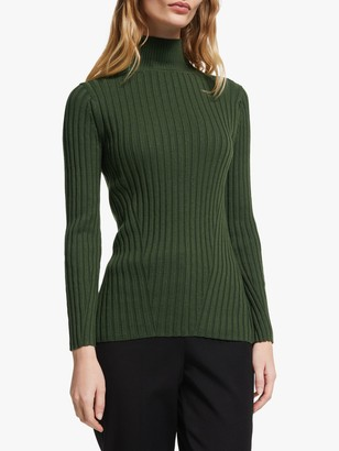 John Lewis & Partners Turtleneck Flat Rib Sweater