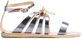 Ancient Greek Sandals Iphigenia Metallic Flats
