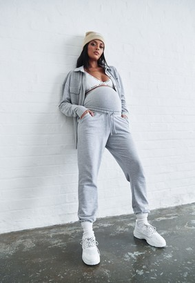 Missguided Grey Marl 90S Maternity Joggers