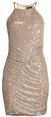 Parker Black Alina Sequin Mini Sheath Dress