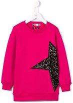 MSGM sequinned star sweatshirt