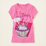 Children's Place Love cupcakes graphic tee