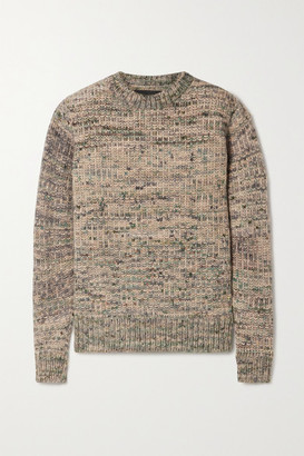 The Elder Statesman Paradise Melange Cashmere Sweater - Neutral