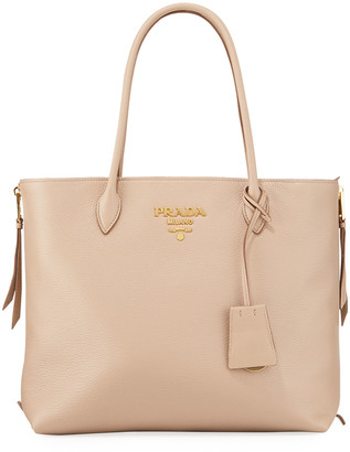 Prada Daino Shopper with Side Zips