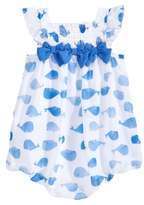 First Impressions Whale-Print Chiffon Bubble Romper, Baby Girls, Created for Macy's