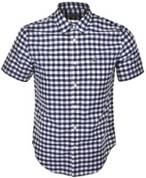 Lacoste Short Sleeved Check Shirt Navy