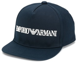Emporio Armani Kids Embroidered Logo Baseball Cap