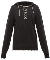 Ann Demeulemeester Distressed Cotton-knit Sailor Sweater - Womens - Black
