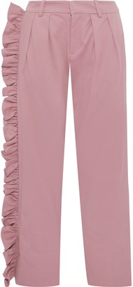 Maggie Marilyn I'll Stand Beside You Stretch-cotton Twill Straight-leg Pants