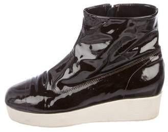 Maison Margiela Patent Leather Ankle Boots