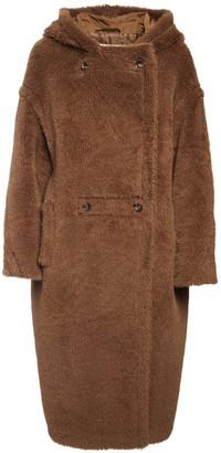 Max Mara Hooded Alpaca & Silk Teddy Coat
