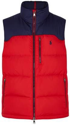 Polo Ralph Lauren Red Quilted Shell Gilet