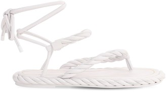 Valentino 10mm The Rope Leather Lace-Up Sandals