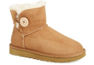 UGG Mini Bailey Button II Genuine Shearling Boot