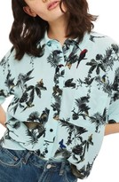 Topshop Women's Jungle Print Shirt