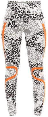 adidas by Stella McCartney Truepace High-rise Leopard-print Leggings - Black Print
