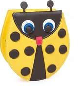 BMC PU Faux Leather Cute Ladybug Shaped Shoulder Purse Clutch Handbag
