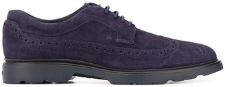 Hogan Lace-Up Suede Brogues
