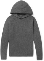 James Perse Ribbed Cashmere Hoodie - Dark gray