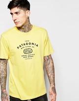 Patagonia T-shirt With P6 Logo Regular Fit - Yellow
