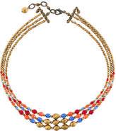 Armani Collezioni multi string beaded necklace