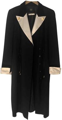 Escada Black Wool Coat for Women Vintage