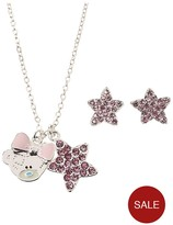 Me To You Tatty Teddy Silver Plated And Crystal Encrusted Pendant Necklace And Earring Set