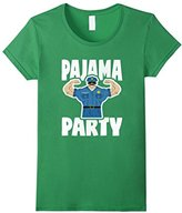 Pajama Party Retro Muscle Police Officer Bed Time PJ T-Shirt
