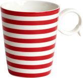 JCPenney Red Vanilla Freshness Lines Porcelain Coffee Mug