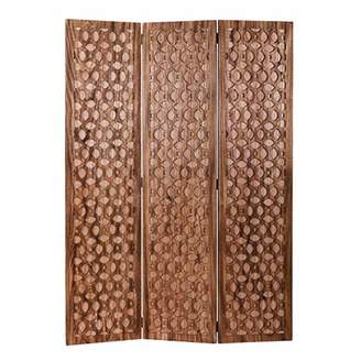 Screen Gems Carved Wood Screen Room Divider
