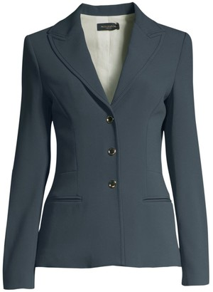Piazza Sempione Wide Notch Lapel Three-Button Blazer