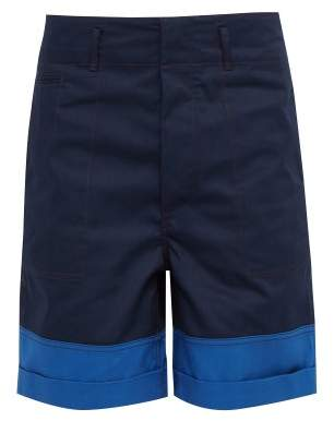 Marni Contrast-trim Technical Shorts - Mens - Navy