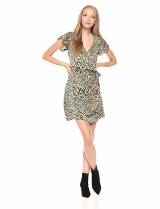 Cupcakes And Cashmere Women's Lenna Leopard Print Wrap Dress